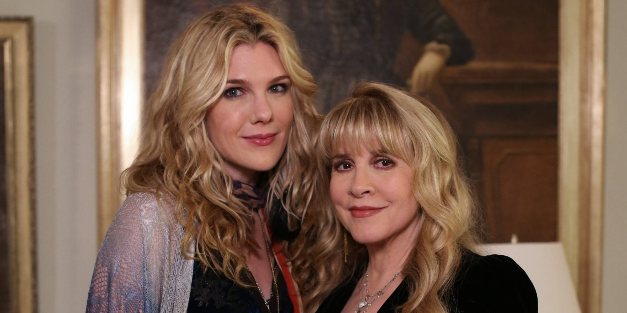 AMERICAN HORROR STORY: COVEN The Magical Delights of Stevie Nicks - Episode 310 (Airs Wednesday, January 8, 10:00 PM e/p) --Pictured: (L-R) Lily Rabe as Misty Day, Stevie Nicks as herself -- CR. Michele K. Short/FX